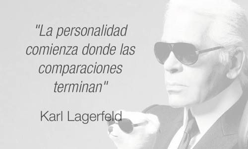 Nadie mejor que el gran Karl Lagerfeld para dar lecciones de personalidad y estilo propio. ¡No hay que tener miedo de ser uno mismo!