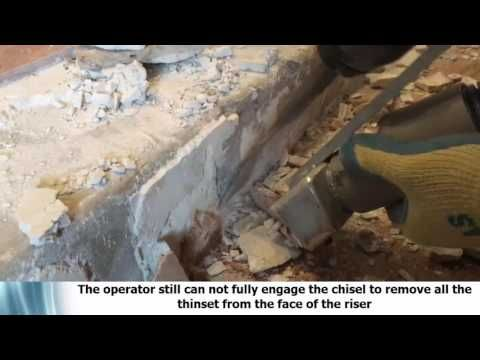 DustRam® vs Dust Commander® Tile Removal Tools Removing Travertine Tile Floors and Risers