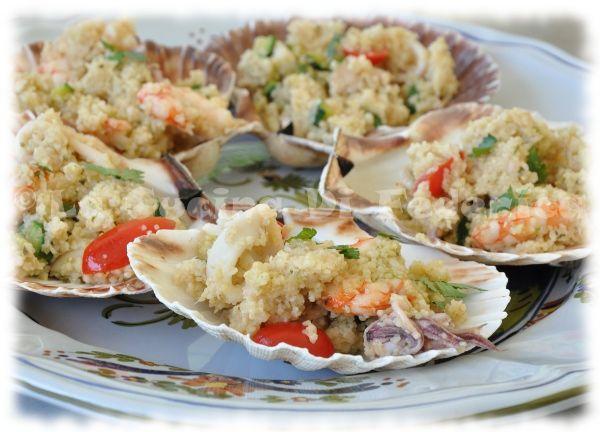 La cucina di Federica: Cous cous di pesce in conchiglia
