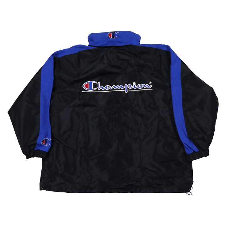 Vintage 90s Champion Big Logo  Windbreaker Jacket Hoodie by HITZSHOP on Etsy