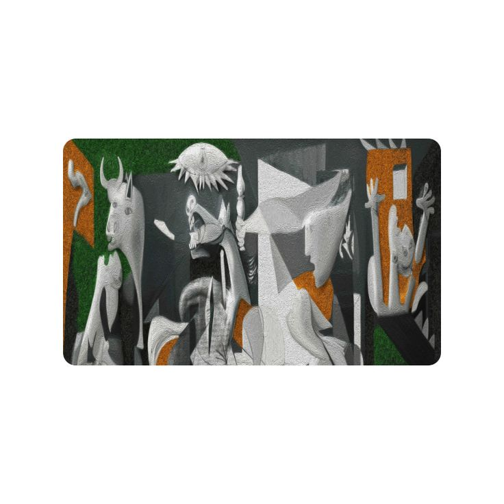 """Picasso : Guernica Doormat 30""""x18"""" (Large)"""