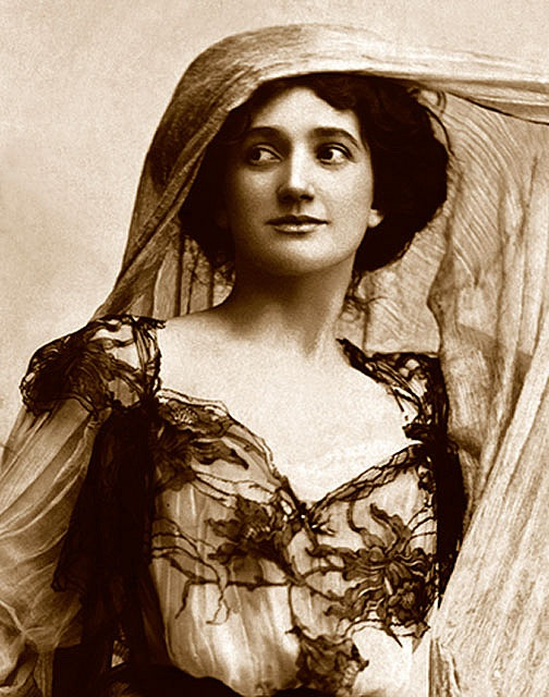 vintage photo of woman in a shroud