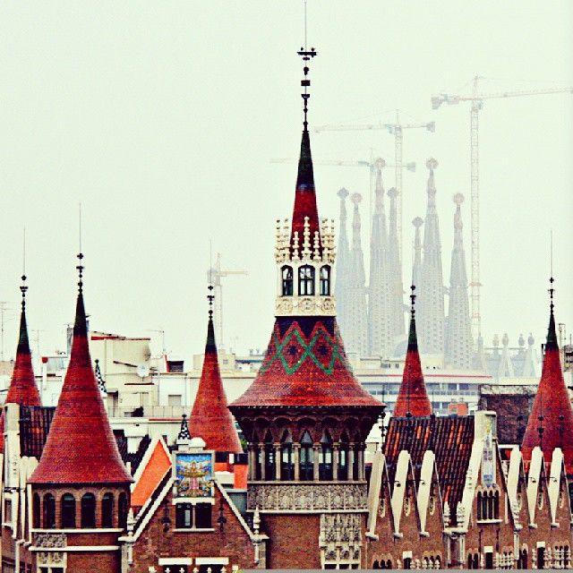 Casa de les Punxes and Sagrada Familia, Barcelona (Spain)