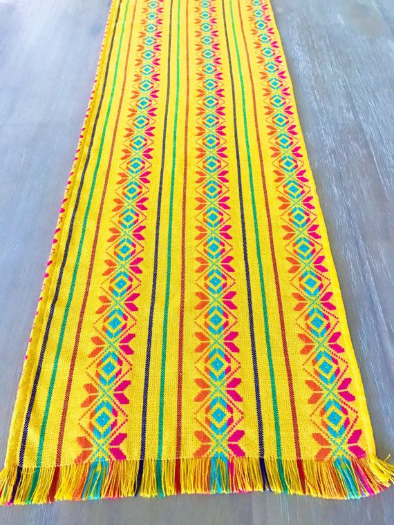 Mexican table runner woven napkins or tablecloth. by MesaChic