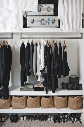 I want shelves that go all the way across my closet...think of all the shoe storage