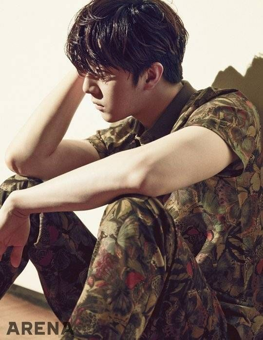 Thunder (Park Sang Hyun) says he doesn't want to forcefully shake off his idol image in photoshoot and interview with 'Arena'   allkpop.com