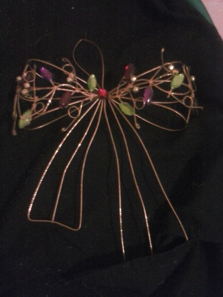 Gold and Jewel Bow,  Hanging Christmas Decoration