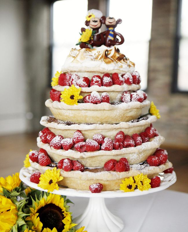 Stacked Pie Wedding Cake | blog.theknot.com