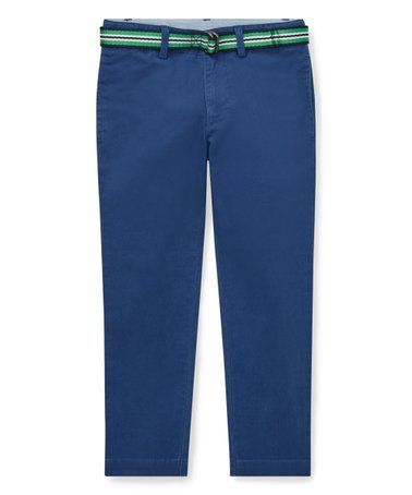 f556db369 Polo Ralph Lauren Annapolis Blue Belted Stretch Chino Pants ...