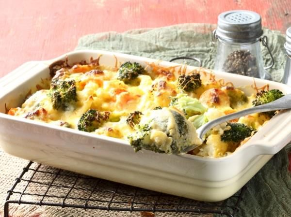 This tasty bake makes for a great side dish – but it's a filling meat-free meal all on its own.