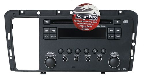 Remanufacture SERVICE for 05-09 Volvo 60 70 80 Series Radio AM FM CD Face HU-650