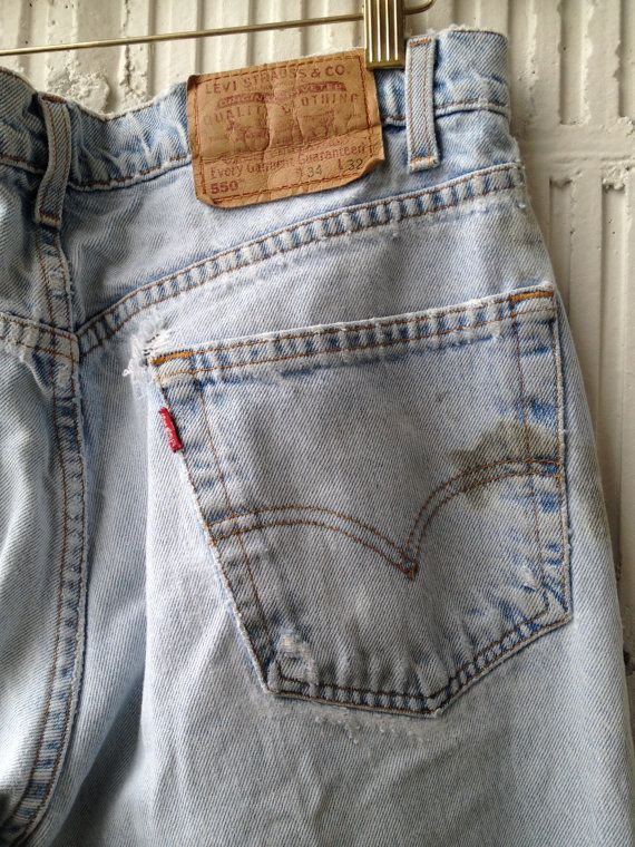80s  Levis 550 Relaxed Fit Red Tab w34 l32   Perfectly