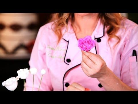 How to Make Sugar Peony Flowers, Part 1 | Easy Cake Decorating Flowers - YouTube