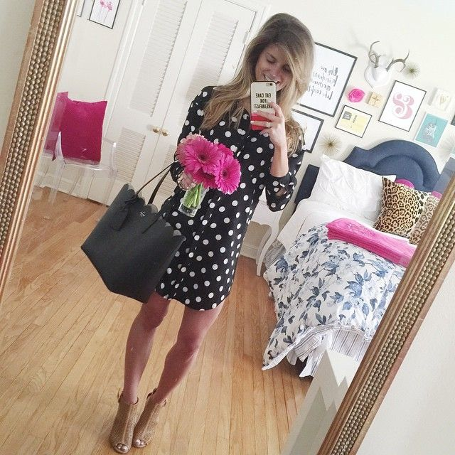 THIS Polka dot shirt dress! LOVE #polkadots #shirtdress #nordstrom #ootd