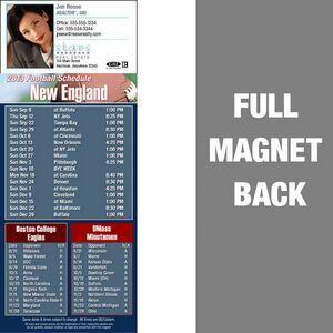 "New England Pro Football Schedule Vinyl Magnet (3 1/2""X8 1/2"")"
