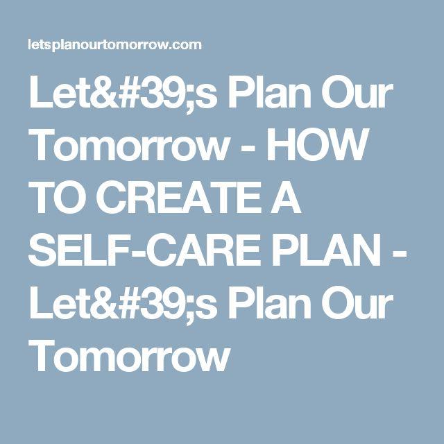 how to create a self improvemebt plan