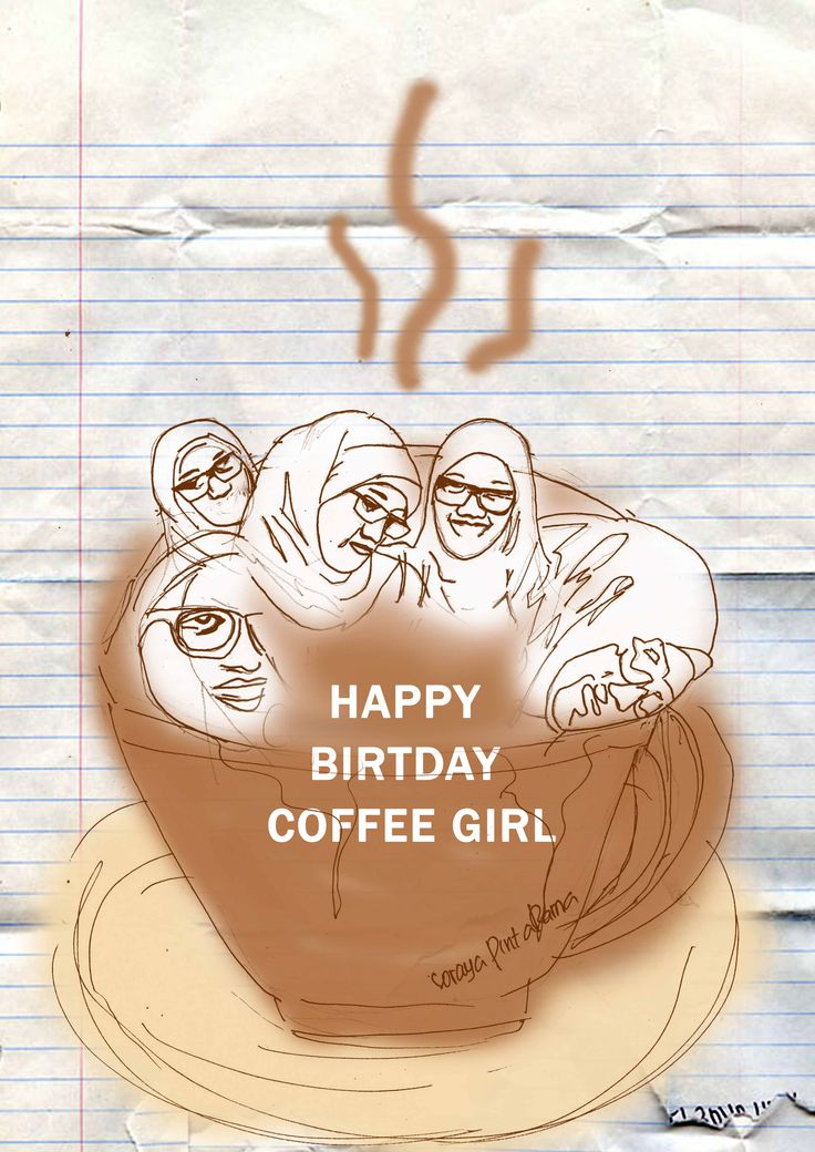 #illustratio #coffee #girl #birthday #hand #draw #moidraw