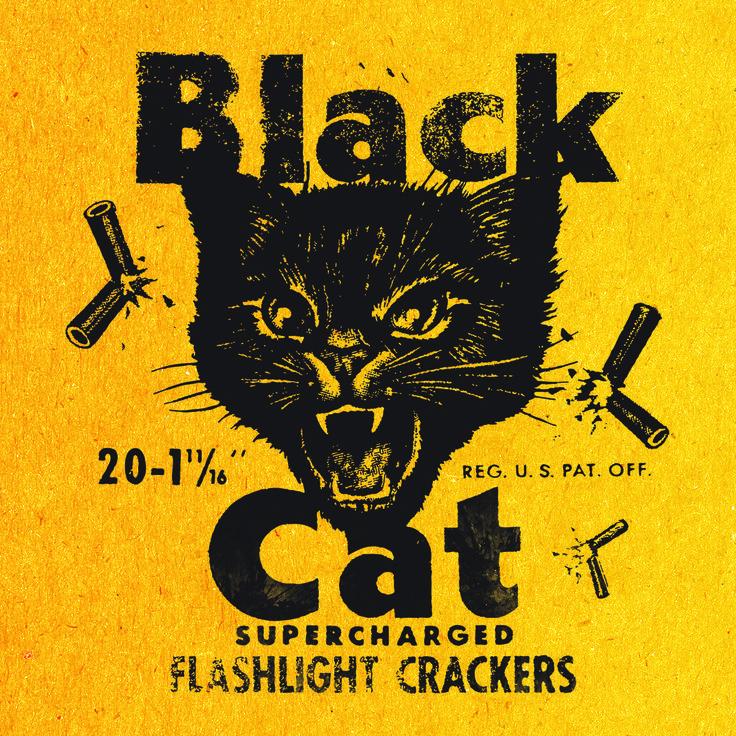 Black Cat Fireworks Label