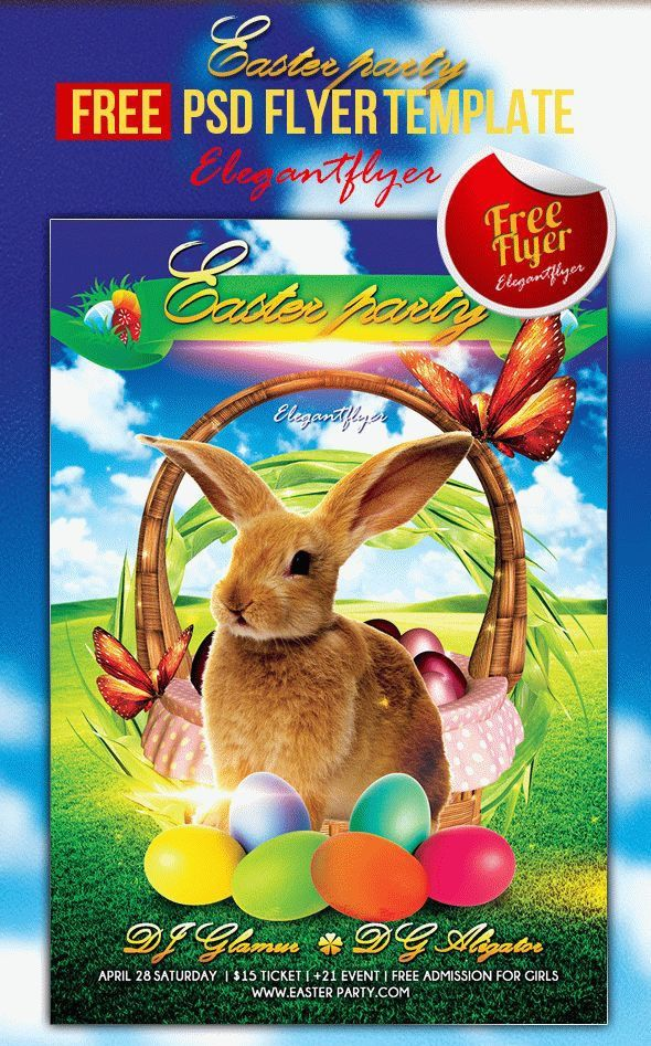 Free Easter Flyer Templates Psd
