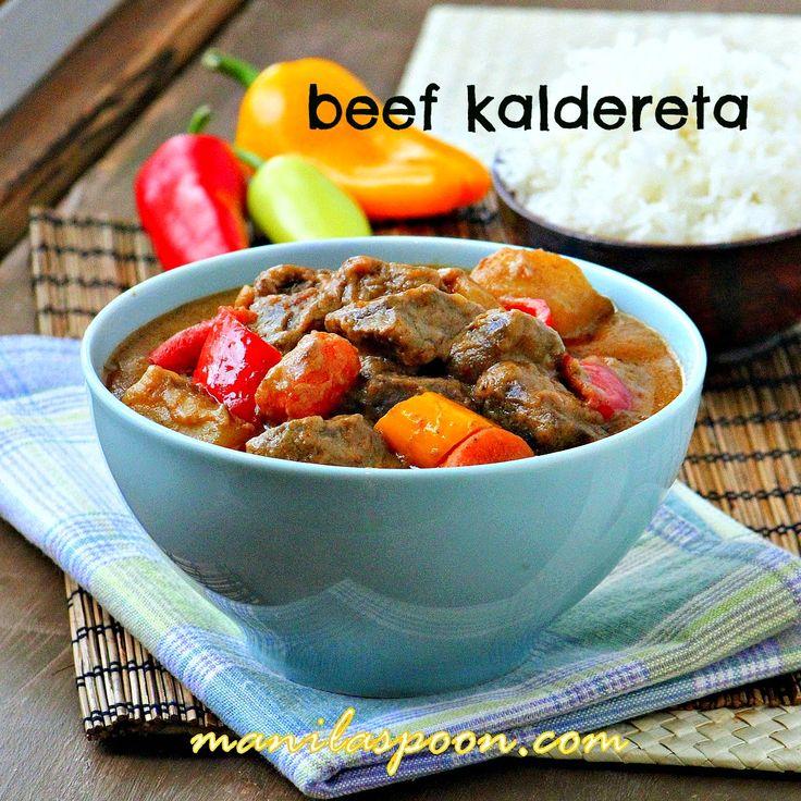 Manila Spoon: Beef Kaldereta (Kaldereta sa Gata) - Beef Chunks Stewed in Coconut Milk
