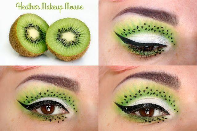 Crazy kiwi eyeshadow :)