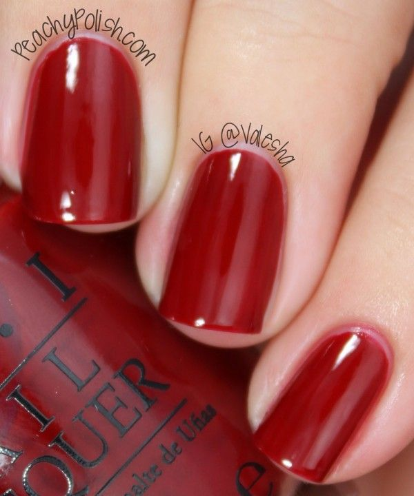 OPI All I Want For Christmas (Is OPI)--- It's my fav fall ...