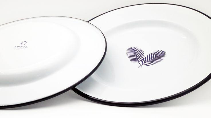 Emalco Enamelware Spring enamel dinner plate