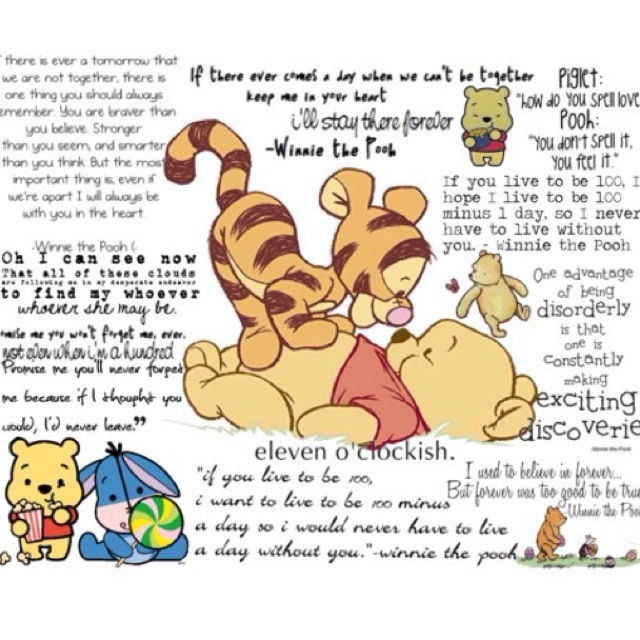 Aw, I Pooh Bear! I Love Quotes By Him :)