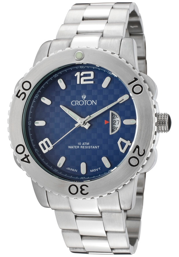 Price:$84.99 #watches Croton CA301223SSBL, With a royal appeal, this Croton timepiece has a regal design and adds a refined look to your wardrobe.