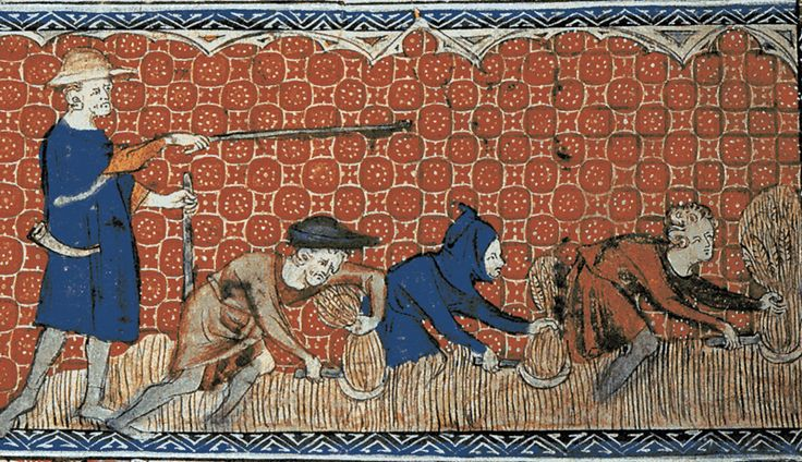 In return for land used to grow their own food, the serfs had to work for the lord of the manor.   As well as farming their own land, each serf had to work a fixed number of days per year on land owned by the lord and his family