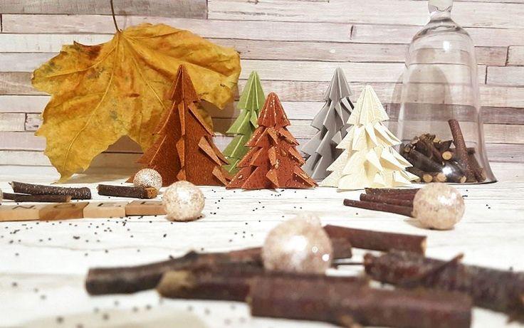 Noël: Des sapins en papier DIY