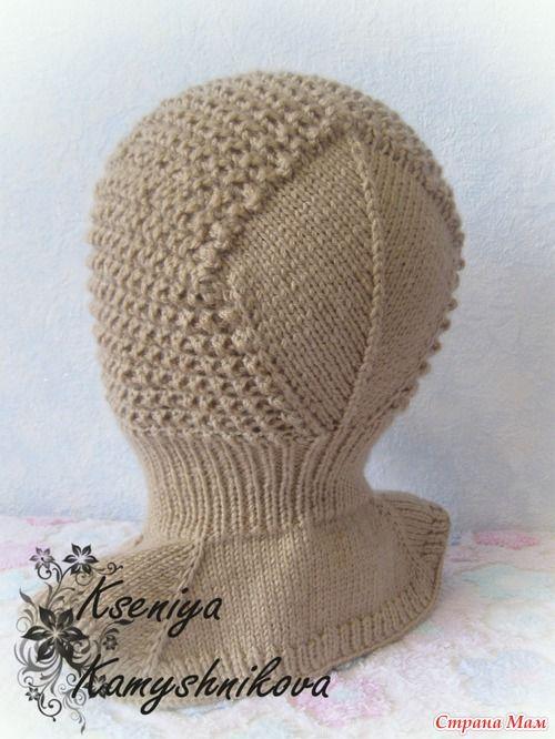 Такую шапку-шлем связала для сыночка по МК Мишутиной мамы- http://www.stranamam.ru/ использовала пряжу Ализе беби вул(175 м,50 гр) в две нити, спицы № 3 на резинку,№ 3,5 на саму шапочку.