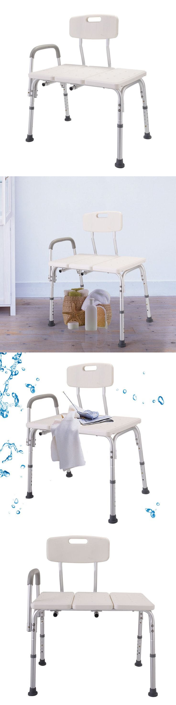 Shower and Bath Seats: Shower Chair 10 Height Adjustable Bathtub Medical Shower Transfer Bench Bath -> BUY IT NOW ONLY: $36.99 on eBay!
