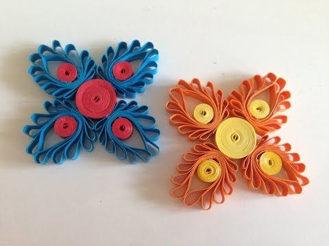 Paper Quilling How to make Beautiful Quilling Brown//I White Flower Quilling -Paper Art Quilling ...