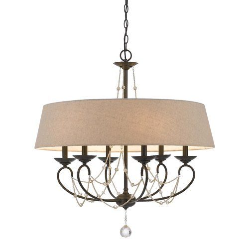 Found it at wayfair amansara 6 light shaded chandelier