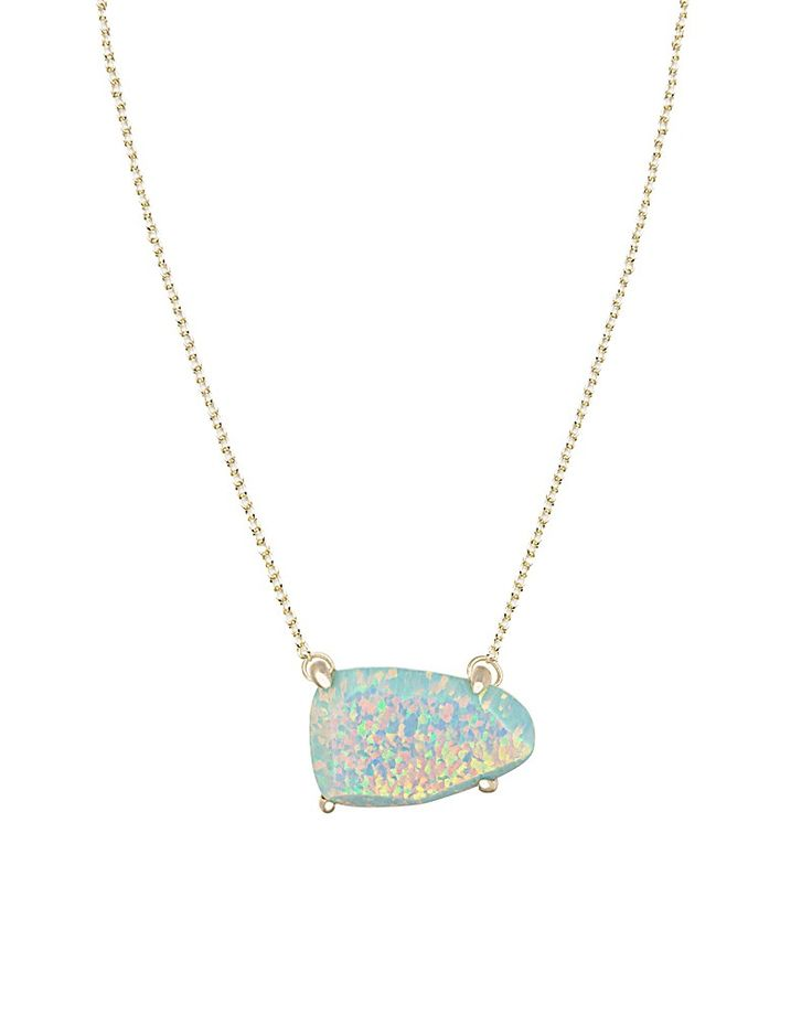 Isla Necklace in Aqua Kyocera Opal - Kendra Scott Jewelry.