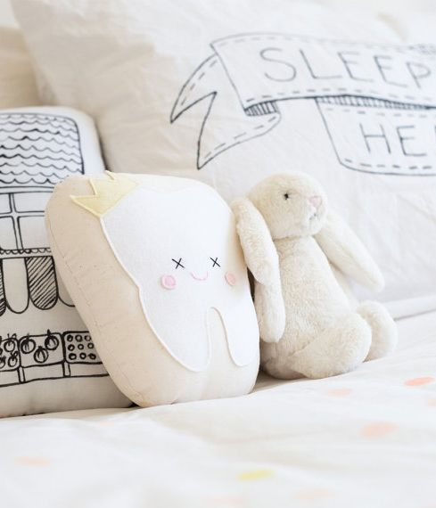 tooth fairy pillow - the money goes into a little pocket at the back!