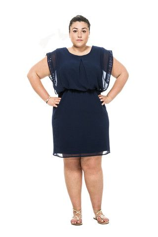 Short Sleeve Sequin Detail Dress – Twelve North
