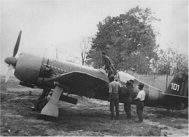 Training to fly fighter-bomber IAR-81. Somewhere on the Eastern front