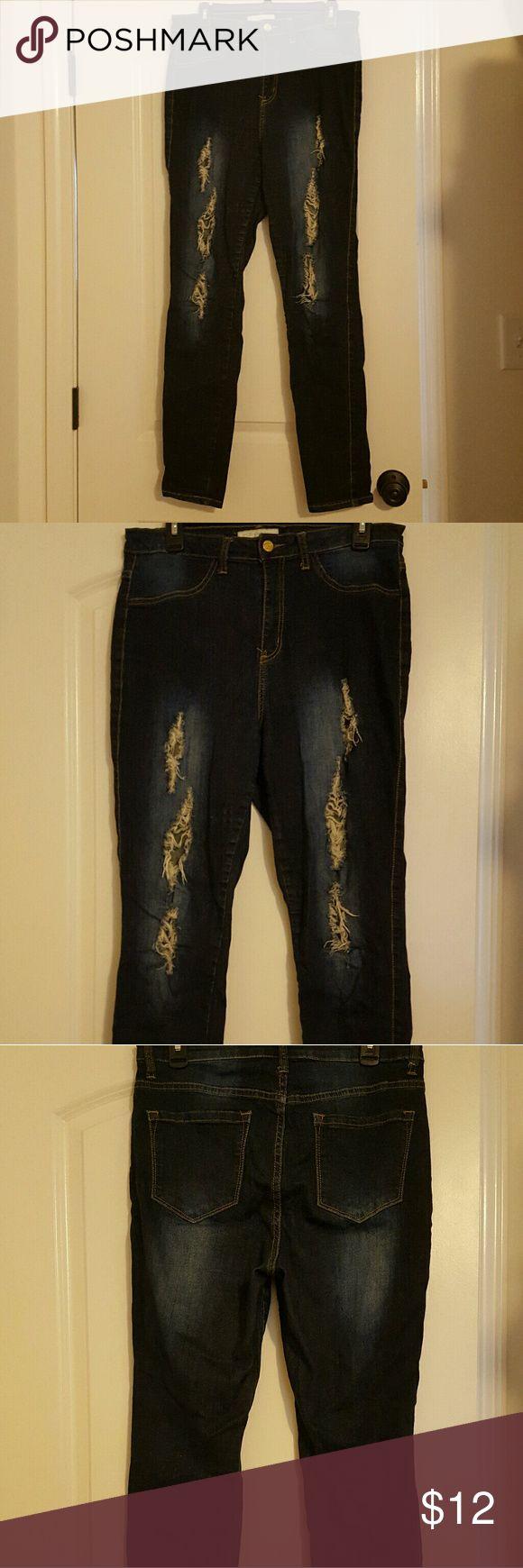 Nikki Minaj factory distressed skinny jeans Nikki Minaj stretch factory distressed skinny jeans size 11/12 Nikki Minaj  Jeans Skinny