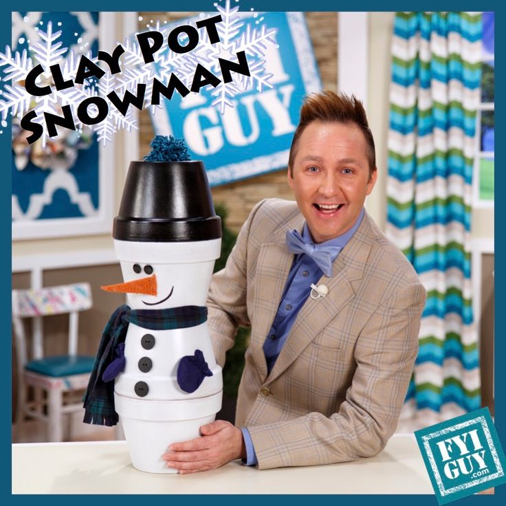 Like and Favorite and Re Pin to WIN the Clay Pot Snowman!