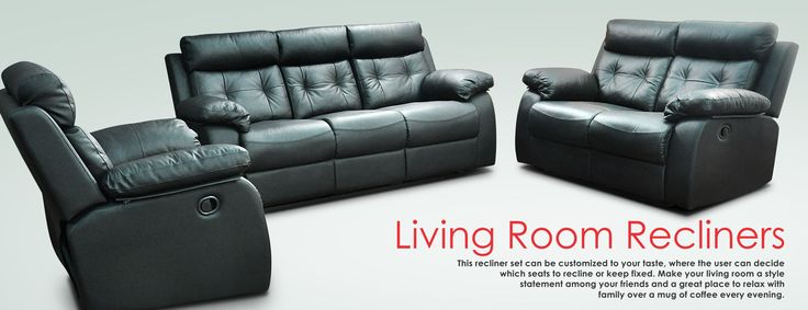 Looking for versatility? This 3-2-1 installation is the perfect answer. This recliner set can be customized to your taste, where the user can decide which seats to recline or keep fixed. Make your living room a style statement among your friends and a great place to relax with family over a mug of coffee every evening. Available in chaise and non-chaise variants, this set up can be customized in any color to suit your home décor, and add that artistic flair to your interior design.