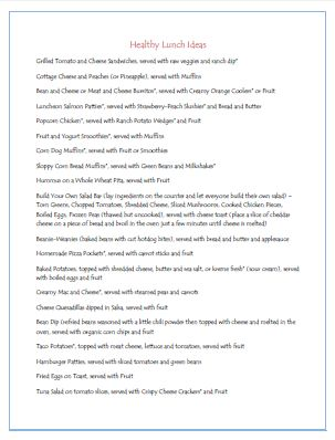 Healthy Lunch List Printable: Easy Healthy Lunches, Lists Recipes Kids Friends, Kids Lunches, For Kids, Lunch Ideas, Healthy Kids, Lunches Ideas, Lunches Lists, Healthy Kid Lunches