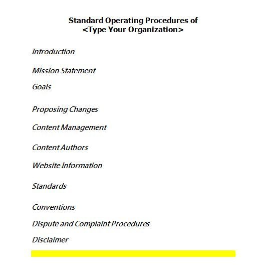25+ unique Standard operating procedure template ideas on - free sop templates