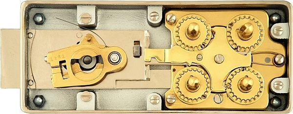 Antique Swiss Bank Safe Deposit Box Combination Lock