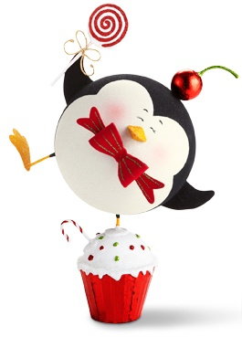 Pier 1 Glitter Penguin on Cupcake exudes extra giddiness for the holidays