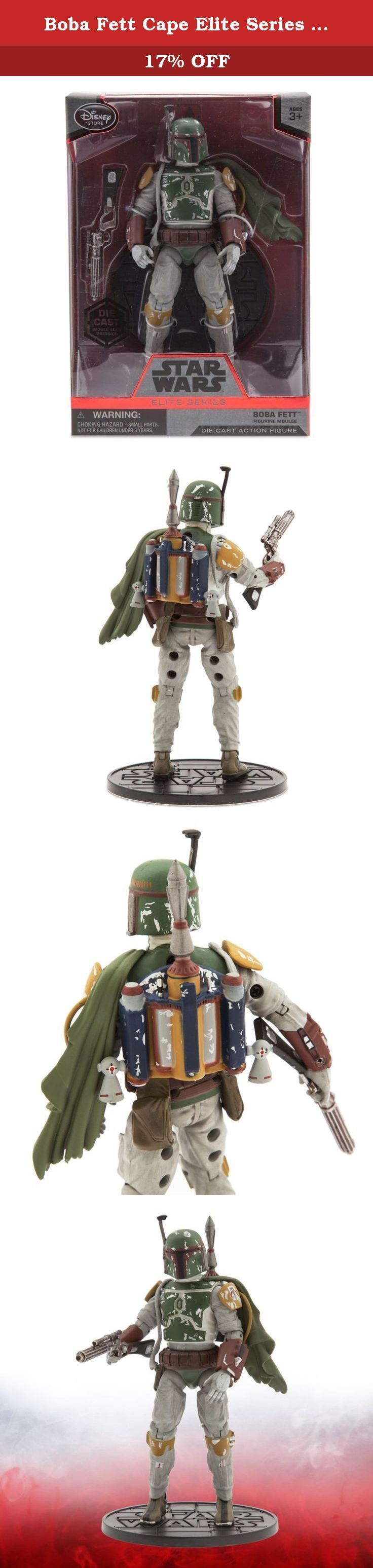 Boba Fett Cape Elite Series Die Cast Action Figure - 7'' - Star Wars. In collaboration with Lucasfilm, Disney presents the Star Wars Elite Series Boba Fett die cast action figure inspired by the classic film saga. With blaster in hand, this mysterious bounty hunter will quickly capture your attention.
