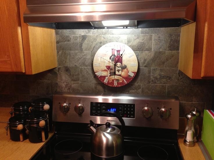 vinyl tile backsplash diy projects pinterest
