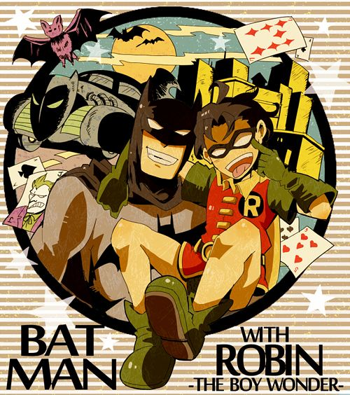 Batman and Robin manga style
