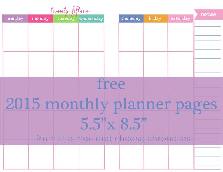 Calendar Planner Osx : Free monthly planner pages freebies printables